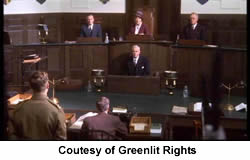 The court scene on which I worked - from War of Nerves, Foyle's War. Courtesy of Greenlit Rights